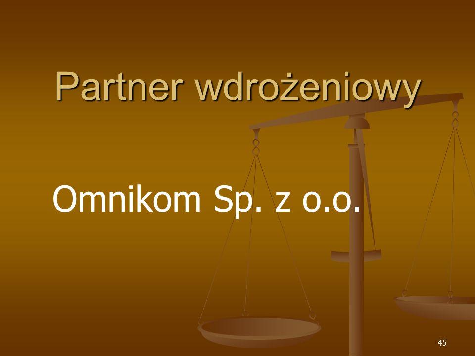 Partner wdrożeniowy Omnikom Sp. z o.o.