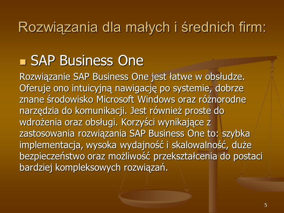 Rozwiązania dla małych i średnich firm:
