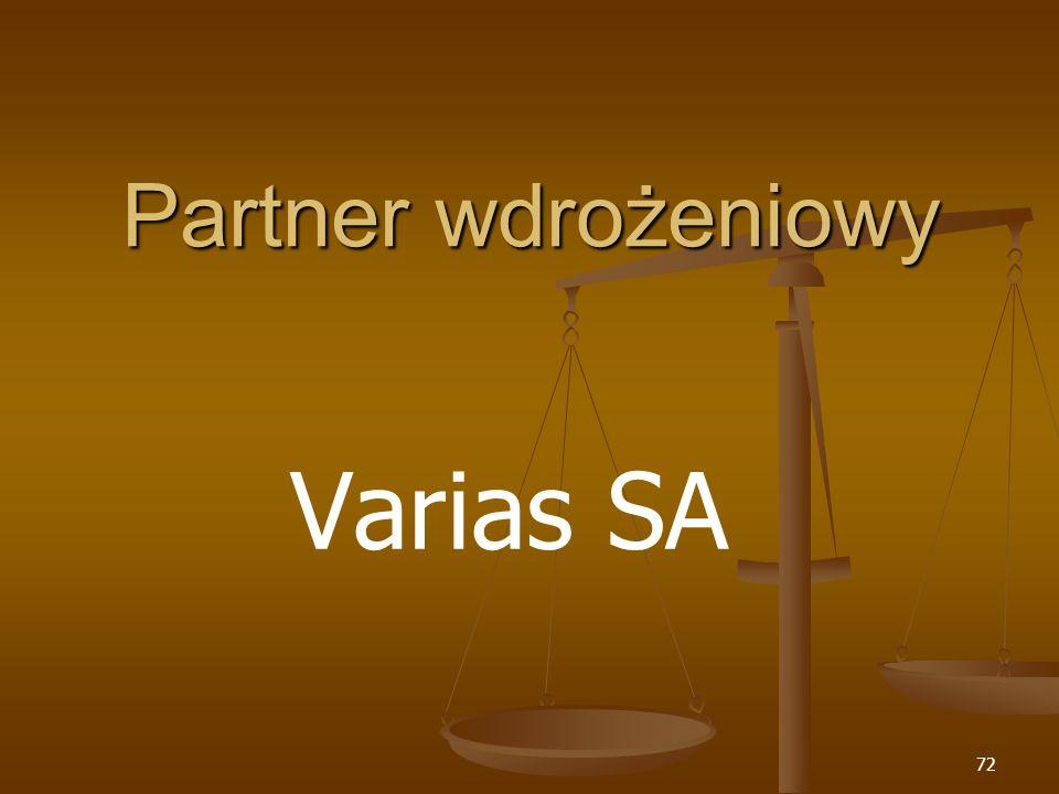 Partner wdrożeniowy Varias SA
