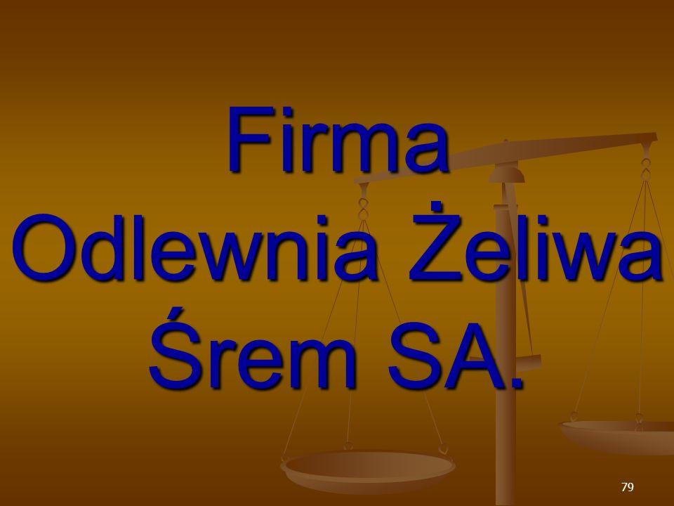 Firma Odlewnia Żeliwa Śrem SA.