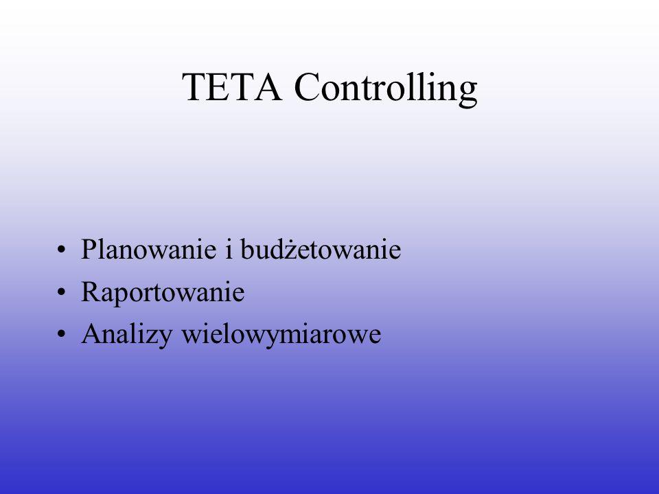 TETA Controlling Planowanie i budżetowanie Raportowanie