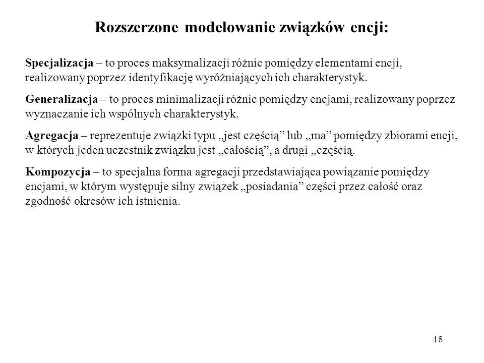 Rozszerzone modelowanie związków encji:
