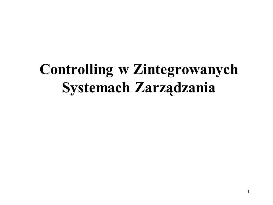 Controlling w Zintegrowanych Systemach Zarządzania