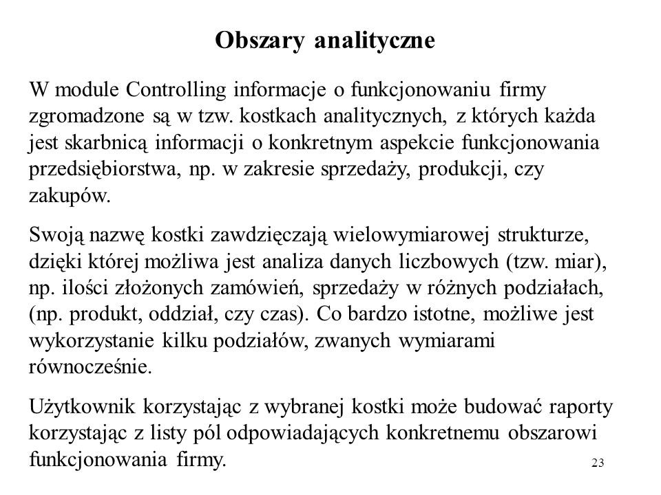 Obszary analityczne