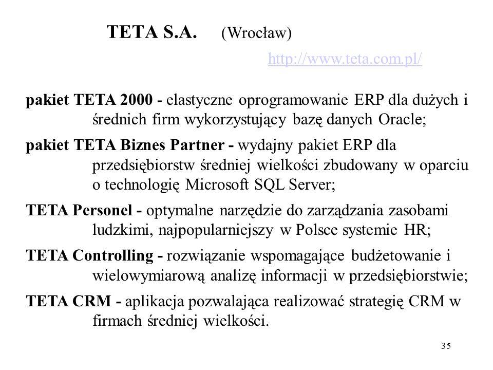TETA S.A. (Wrocław) http://www.teta.com.pl/
