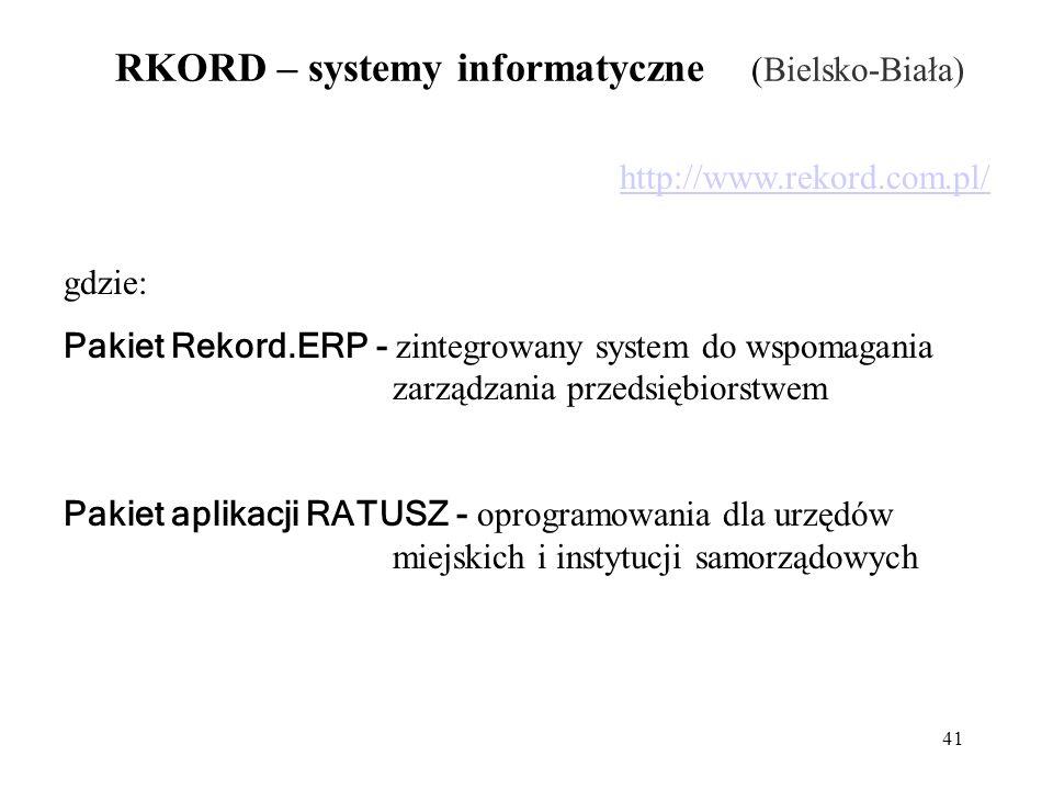 RKORD – systemy informatyczne (Bielsko-Biała)