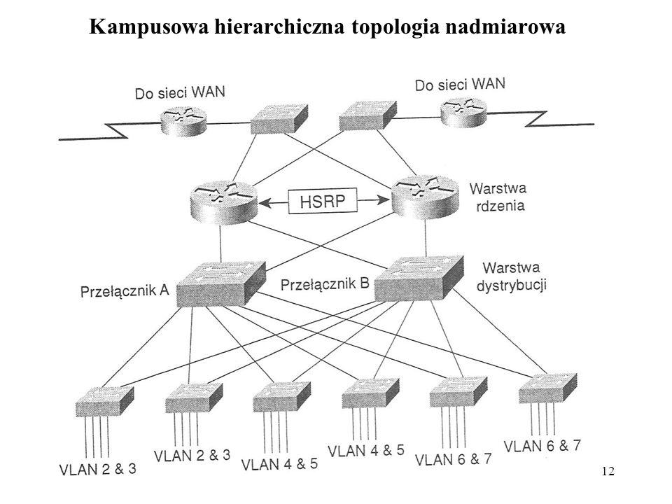 Kampusowa hierarchiczna topologia nadmiarowa