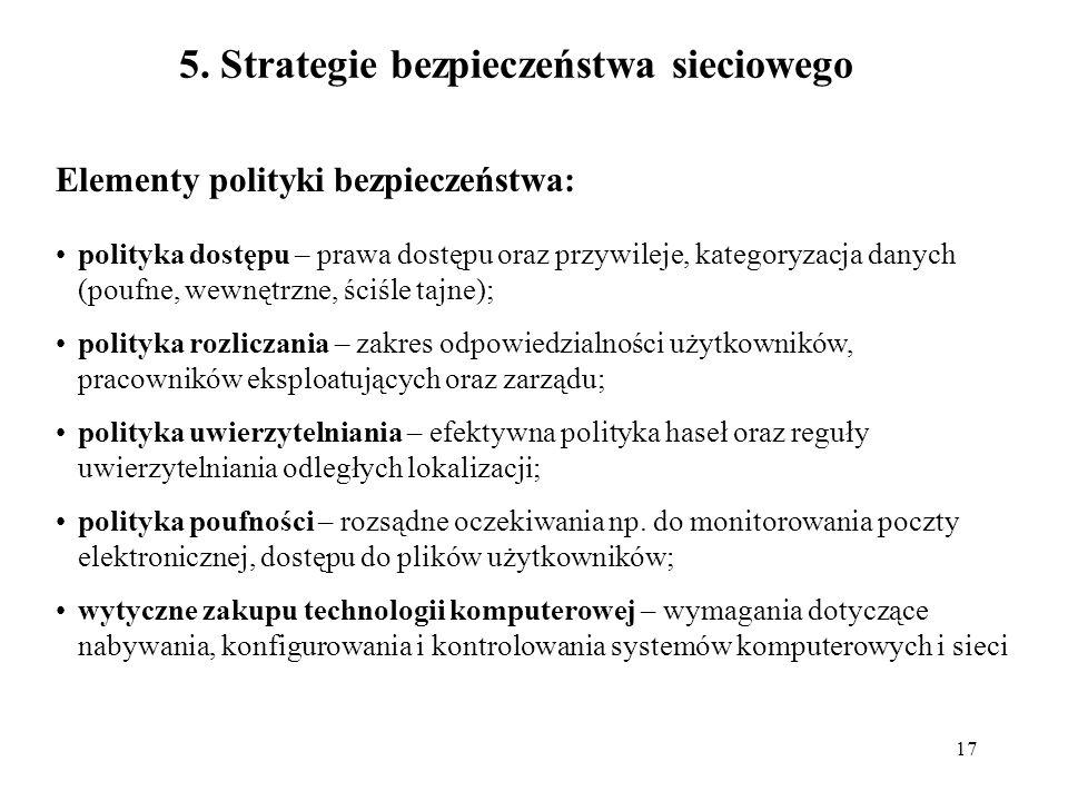 5. Strategie bezpieczeństwa sieciowego