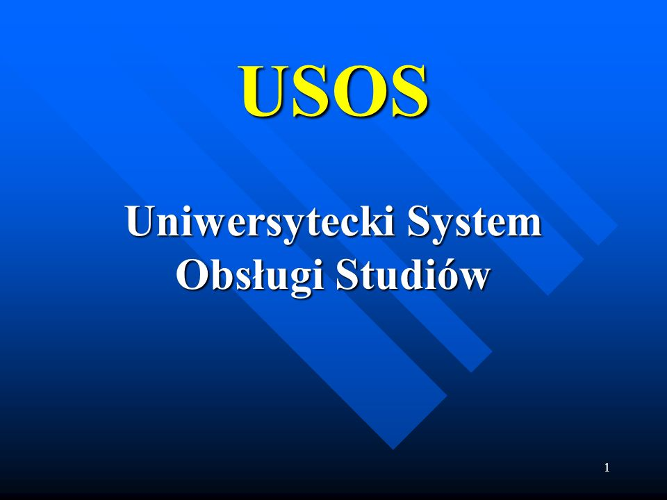 Uniwersytecki System Obsługi Studiów