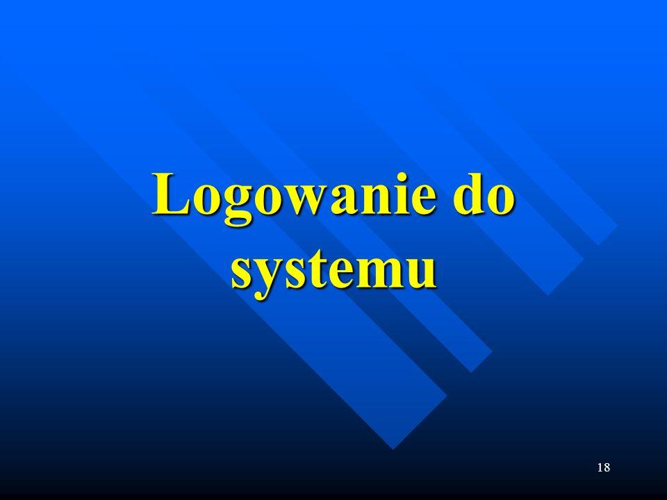 Logowanie do systemu
