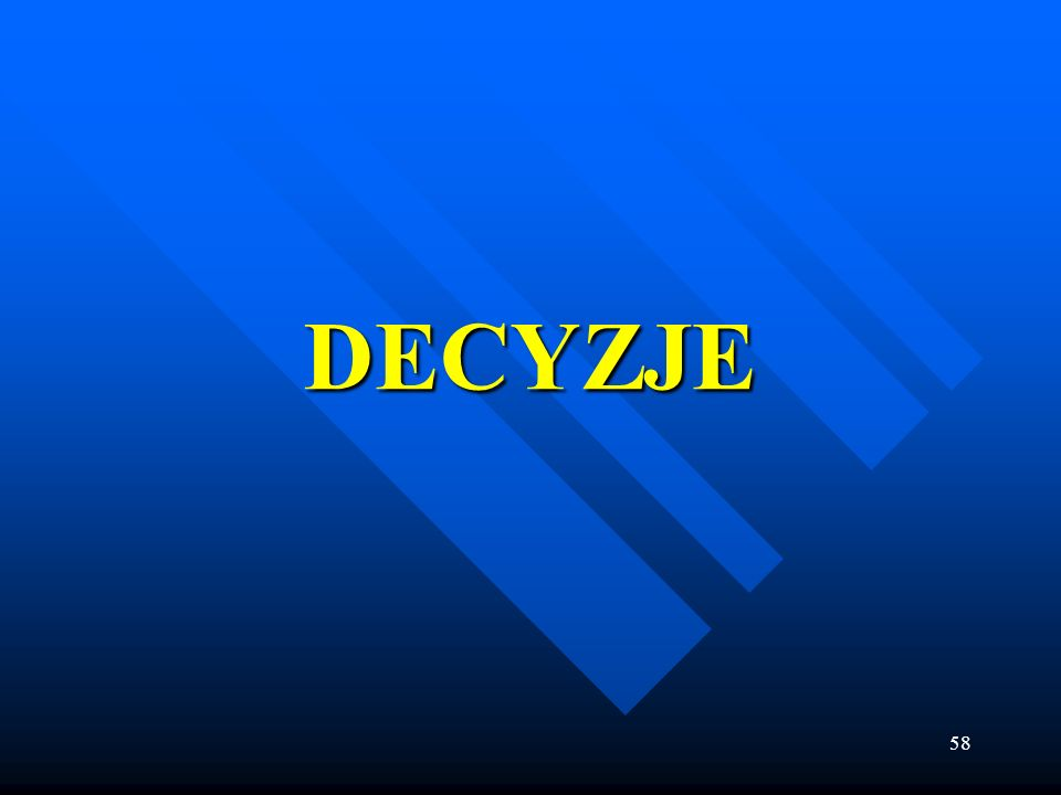 DECYZJE