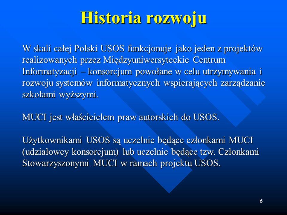 Historia rozwoju