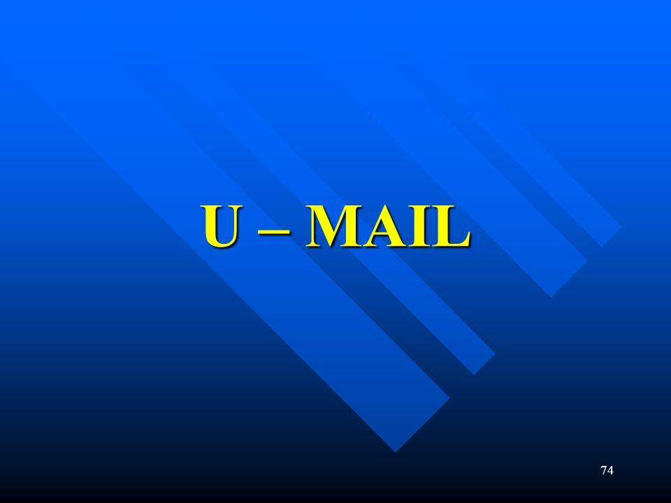 U – MAIL