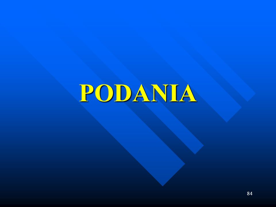 PODANIA