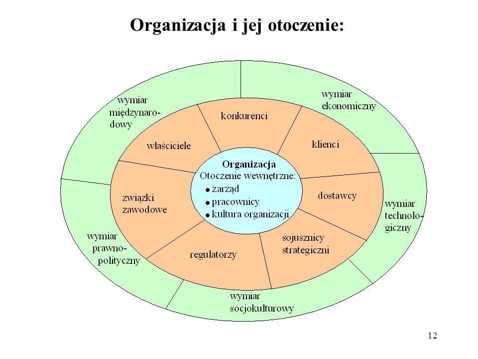Organizacja i jej otoczenie: