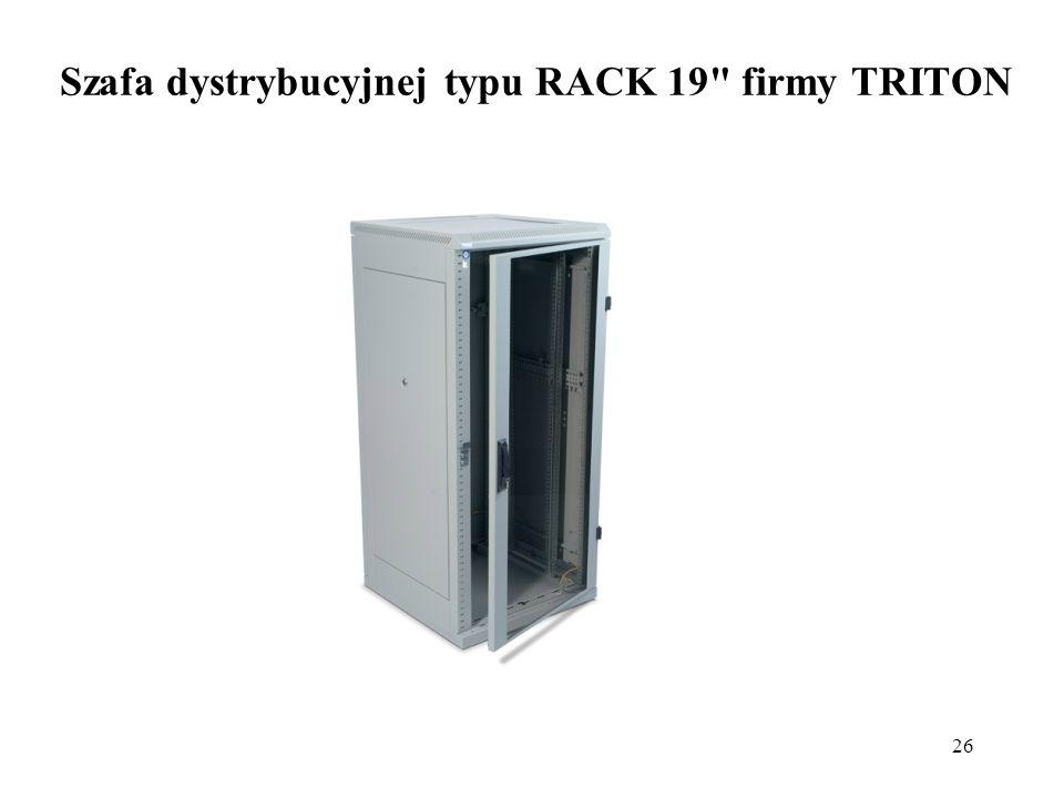 Szafa dystrybucyjnej typu RACK 19 firmy TRITON