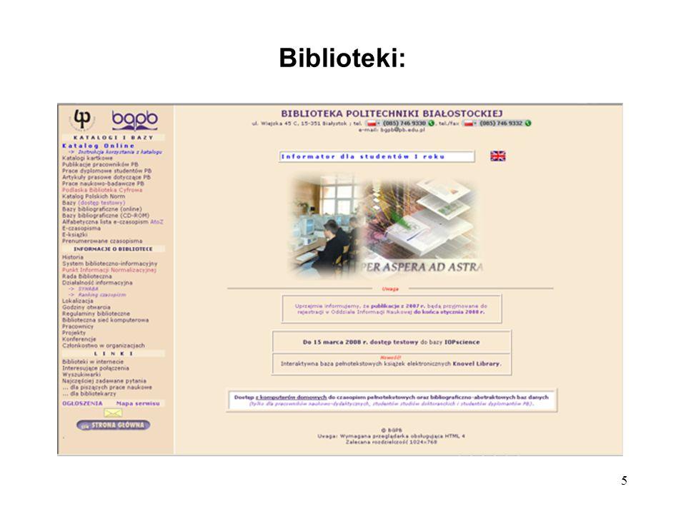 Biblioteki:
