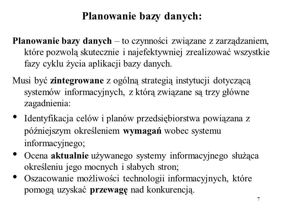 Planowanie bazy danych: