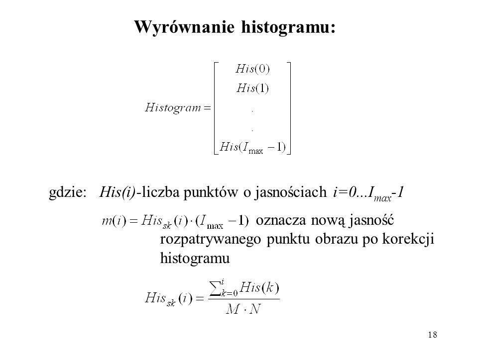 Wyrównanie histogramu: