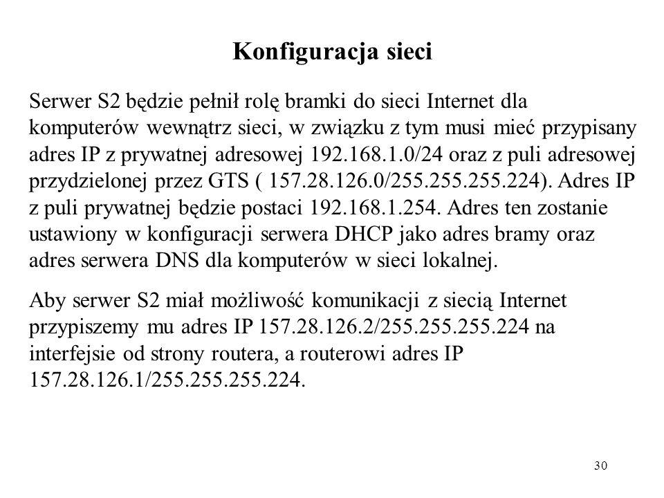 Konfiguracja sieci
