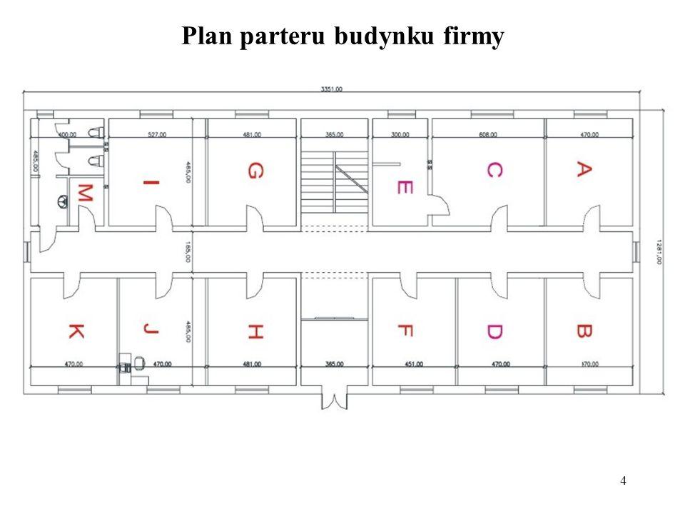 Plan parteru budynku firmy
