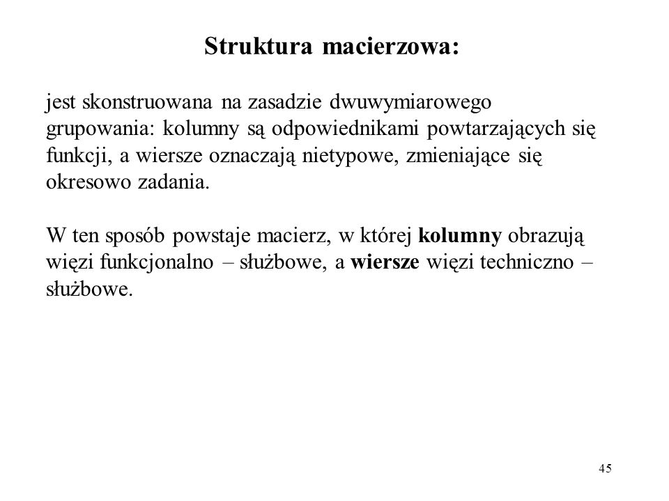 Struktura macierzowa: