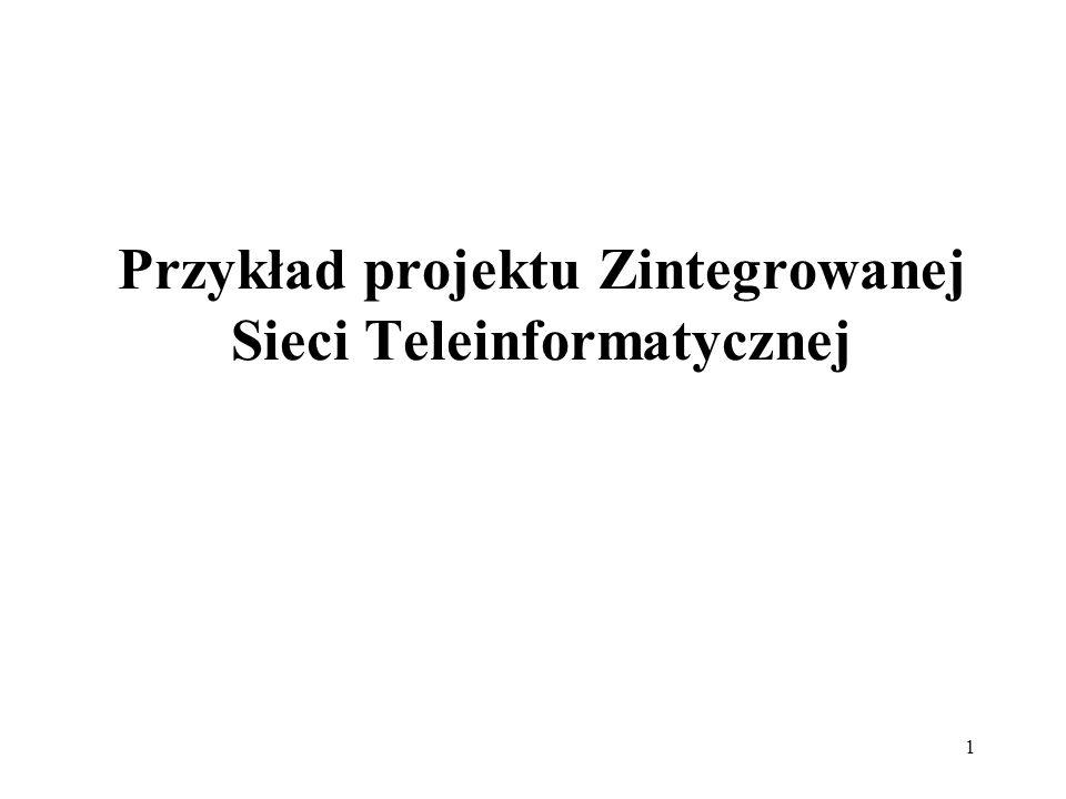 Przykład projektu Zintegrowanej Sieci Teleinformatycznej