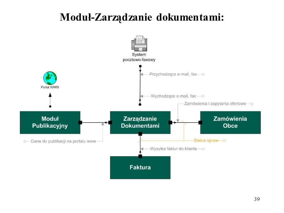 Moduł-Zarządzanie dokumentami: