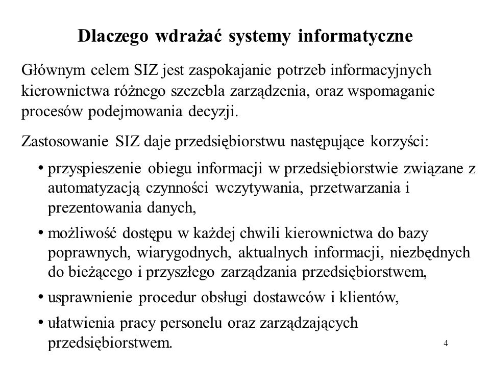 Dlaczego wdrażać systemy informatyczne