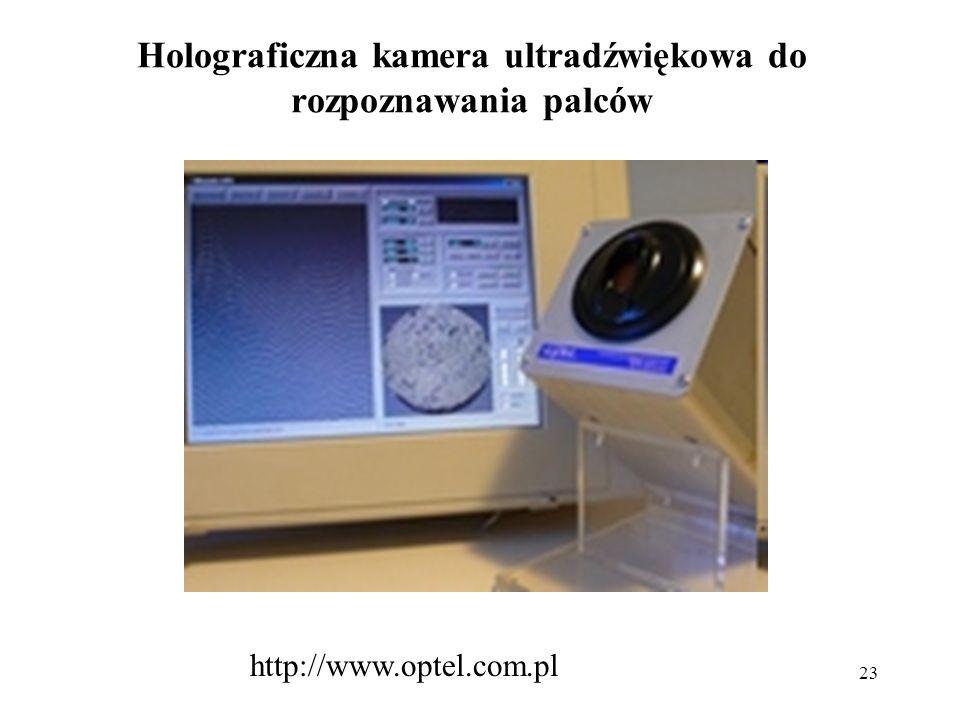 Holograficzna kamera ultradźwiękowa do rozpoznawania palców
