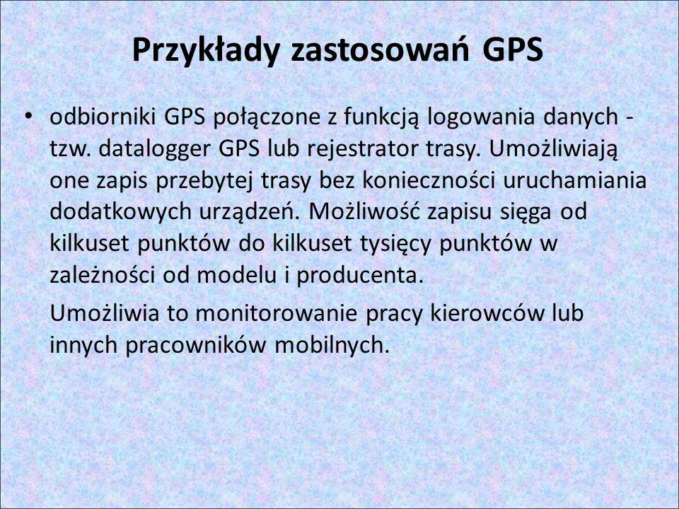 Przykłady zastosowań GPS