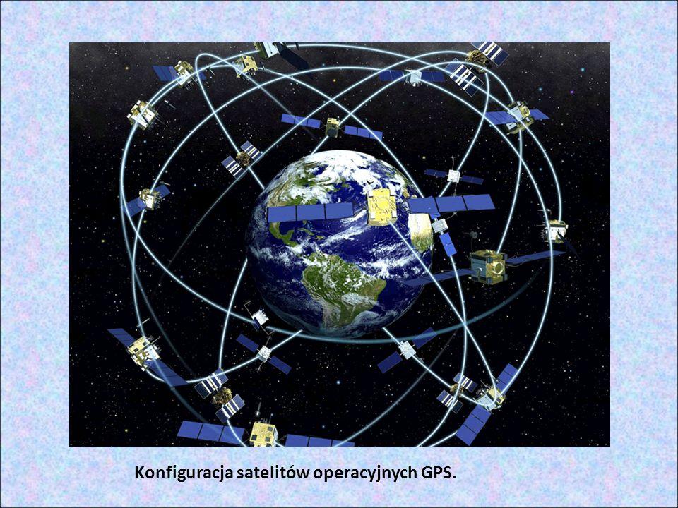Konfiguracja satelitów operacyjnych GPS.