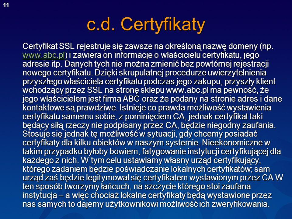 c.d. Certyfikaty