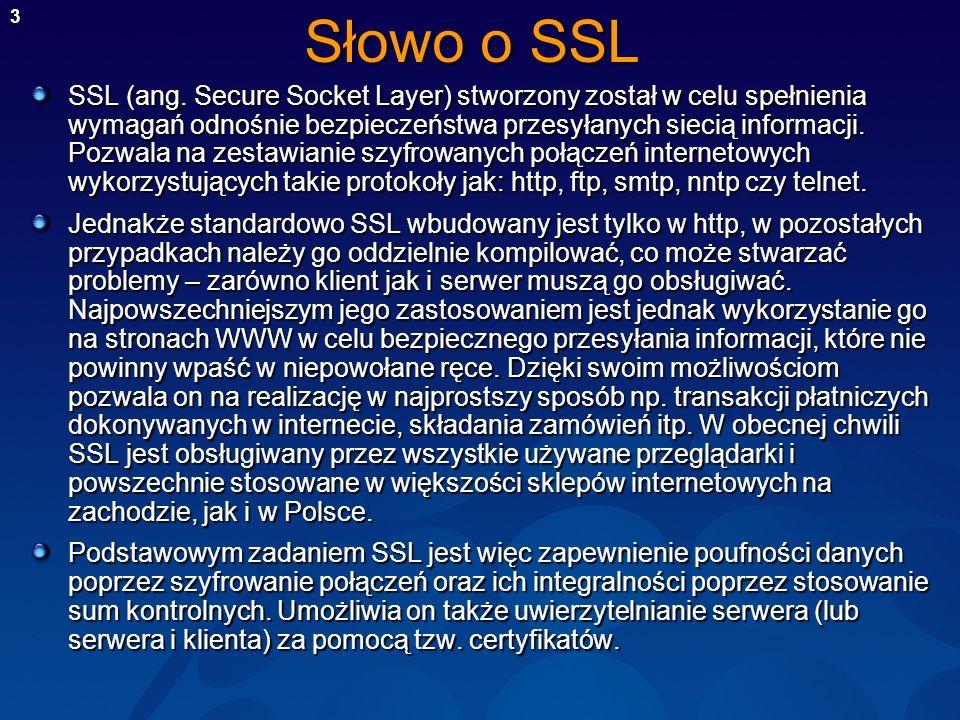 Słowo o SSL