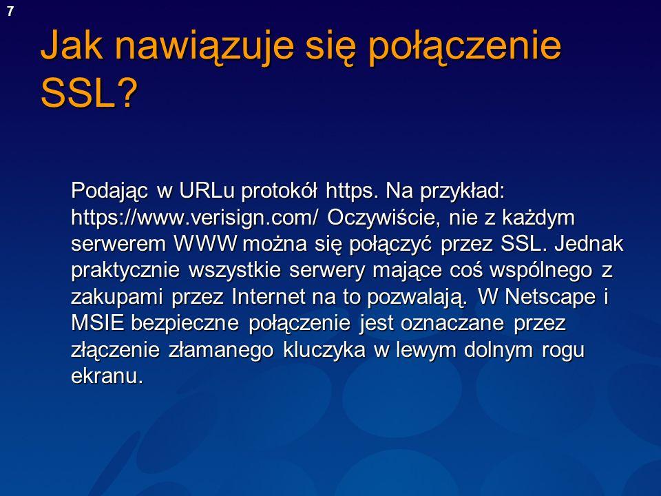Jak nawiązuje się połączenie SSL