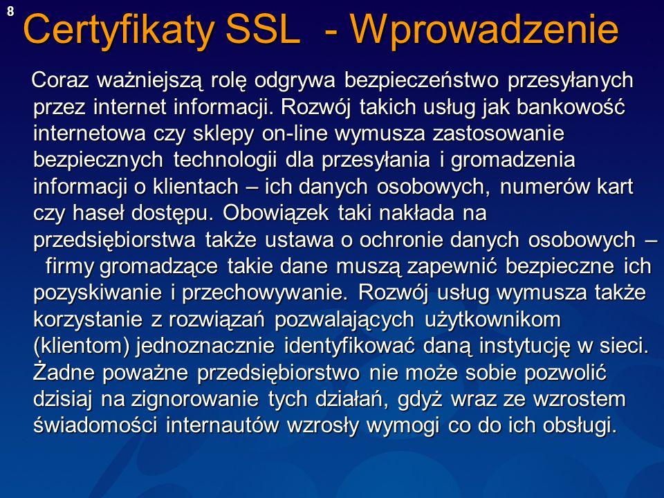 Certyfikaty SSL - Wprowadzenie