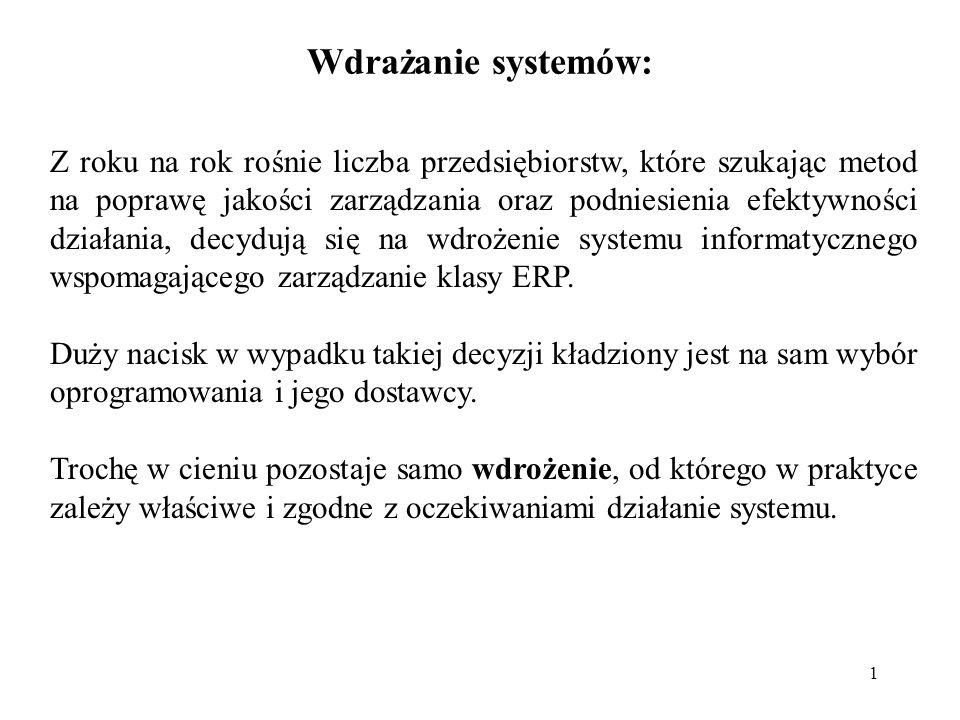 Wdrażanie systemów: