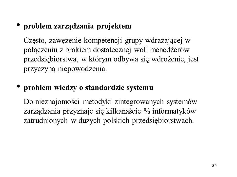 problem zarządzania projektem