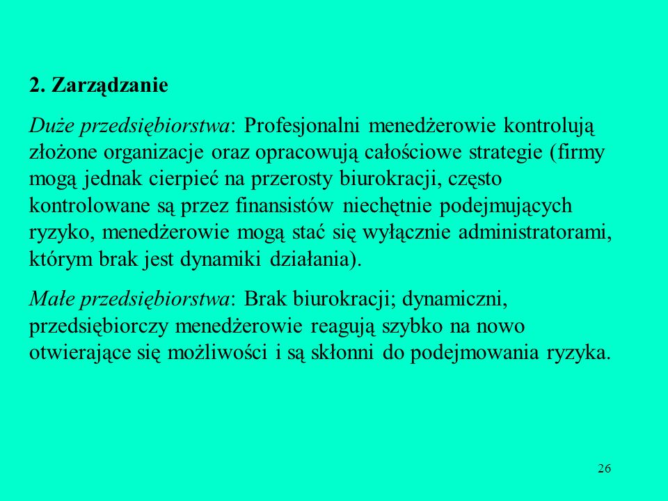2. Zarządzanie