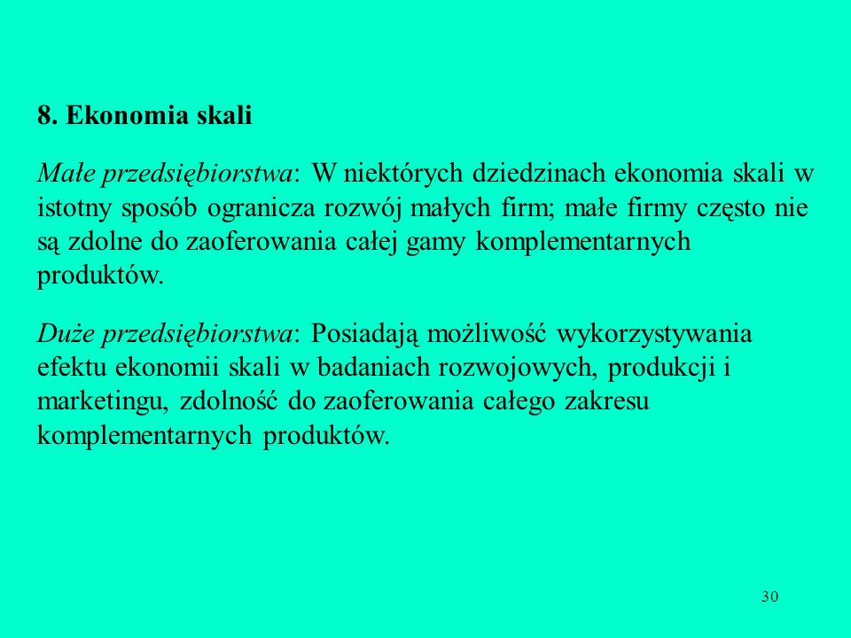 8. Ekonomia skali