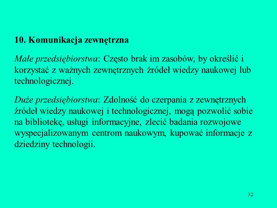 10. Komunikacja zewnętrzna