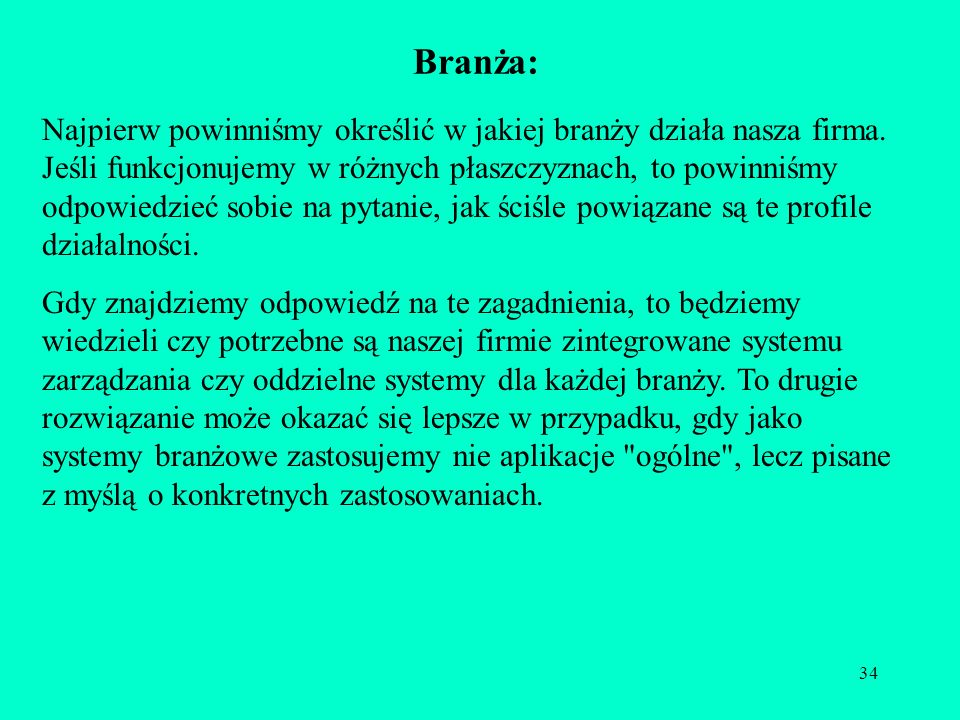 Branża: