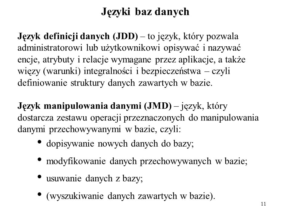 Języki baz danych