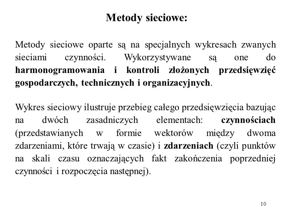 Metody sieciowe: