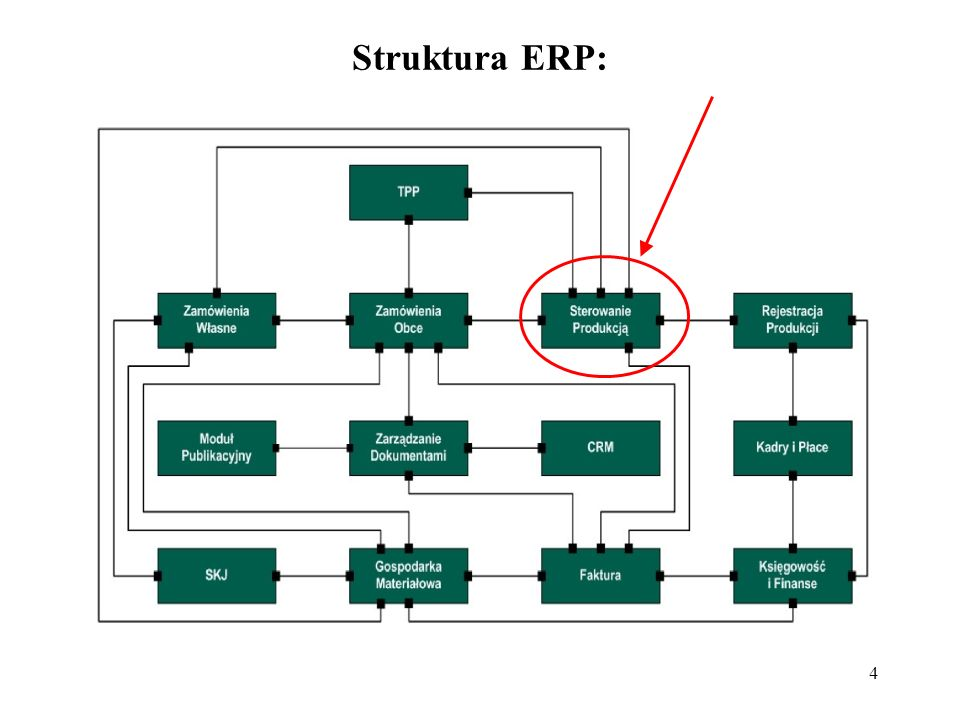 Struktura ERP: