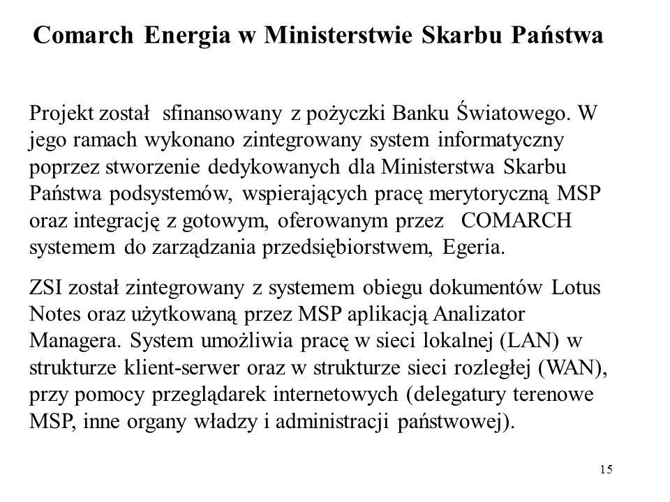 Comarch Energia w Ministerstwie Skarbu Państwa