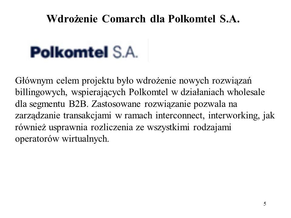 Wdrożenie Comarch dla Polkomtel S.A.