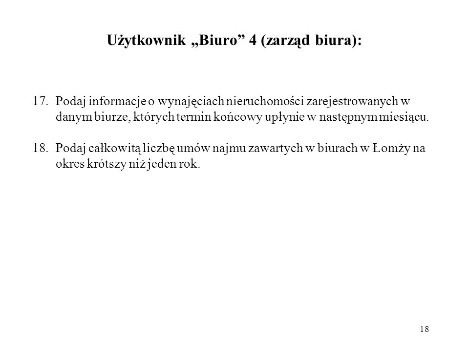 """Użytkownik """"Biuro 4 (zarząd biura):"""