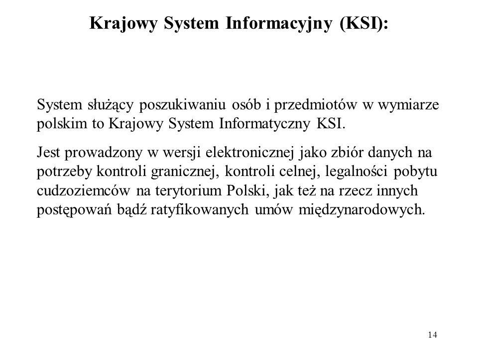 Krajowy System Informacyjny (KSI):