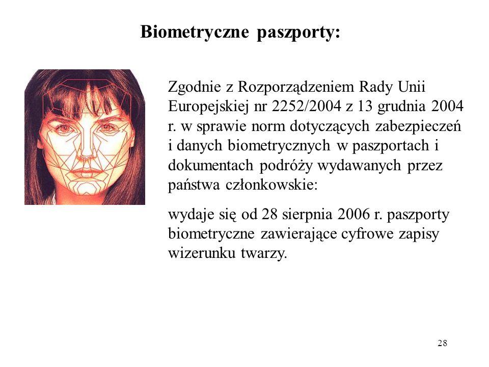 Biometryczne paszporty: